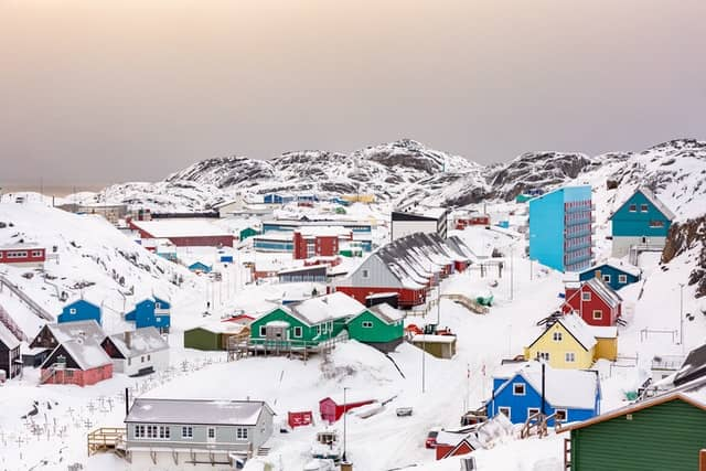 A view of the many houses in Greenland