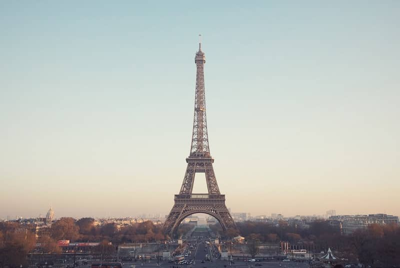 Eiffel Tower with cityscape in Paris, France