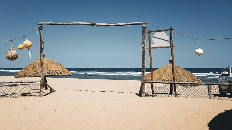 A relaxing beach view at Tofo, Mozambique